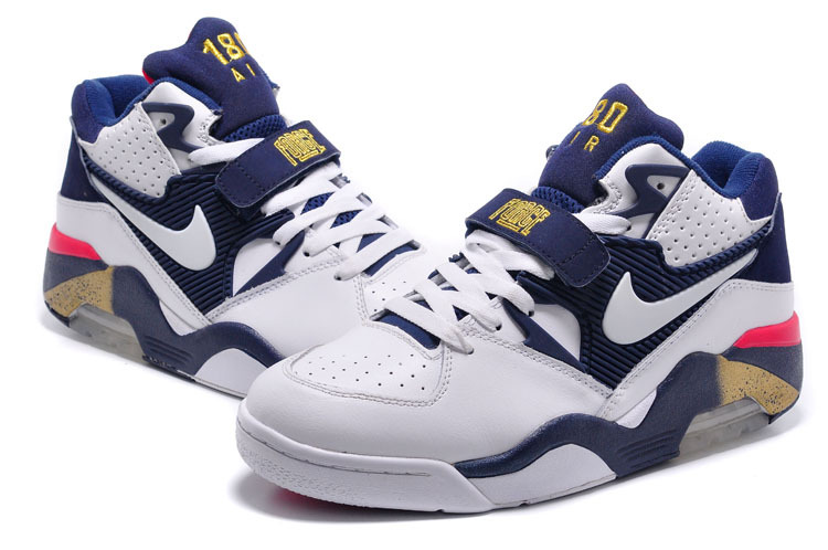 New Release Air Force 180 Barkley White Blue Gold Shoes
