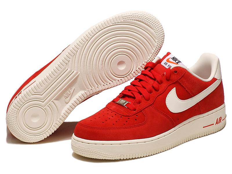 Nike Air Force Red White Shoes