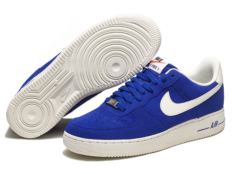 Nike Air Force Sea Blue White Shoes