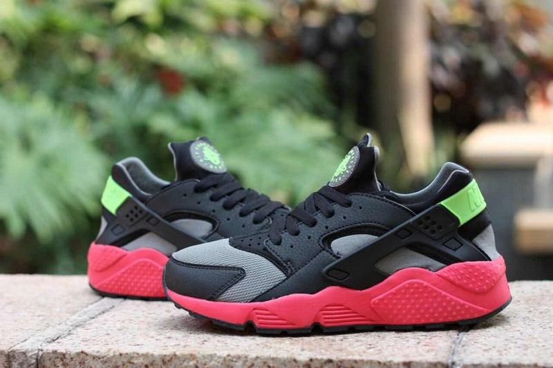 Nike Air Huarache Grey Black Red Women's Shoes