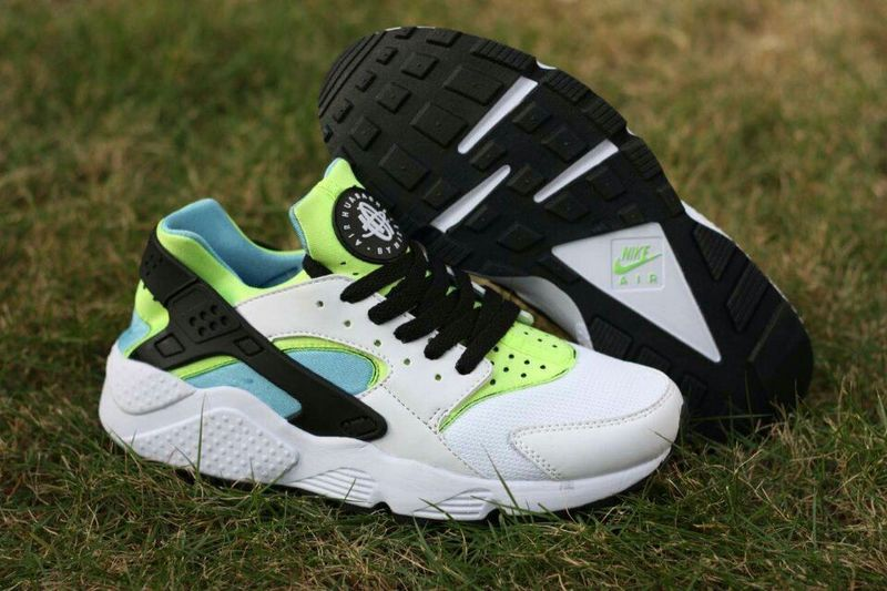 Nike Air Huarache White Fluorscent Green Womens Shoes