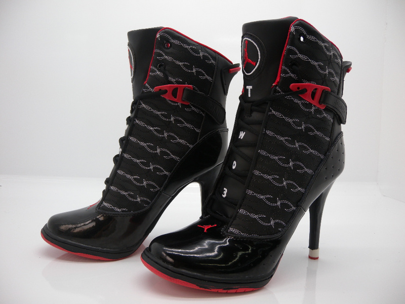 Nike Air Jordan 11 High Heels Black Red