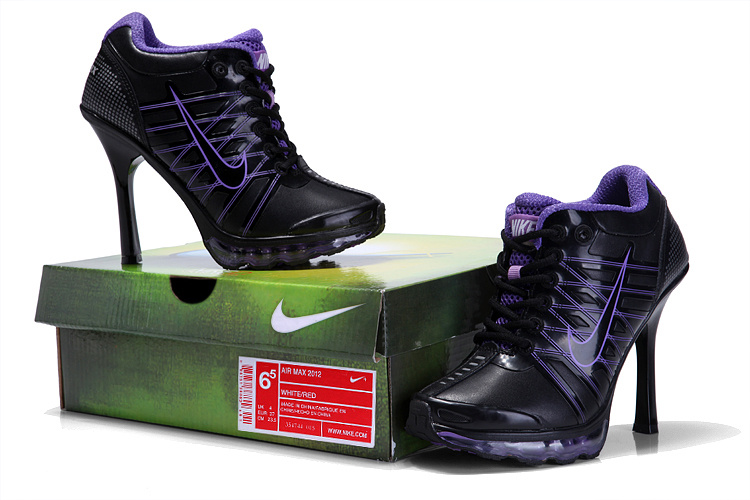 Nike Air Max 09 High Heels Black Purple