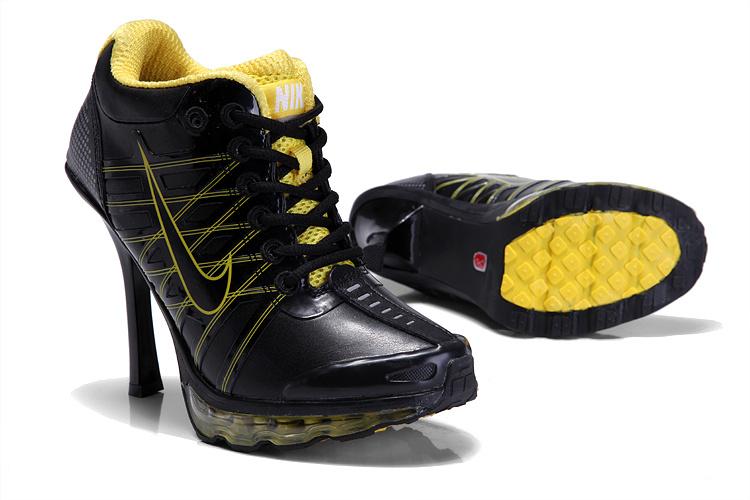 Nike Air Max 09 High Heels Black Yellow