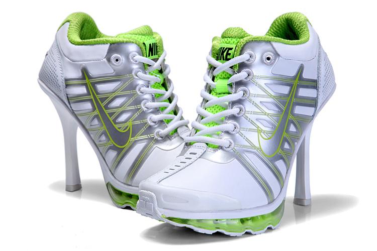 Nike Air Max 09 High Heels Grey Silver Green