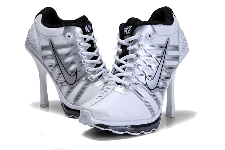 Nike AirMax 09 High Heels White Grey