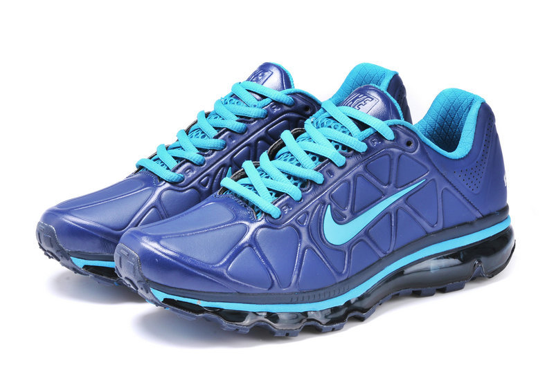 Nike Air Max 2009 Leather Blue Black