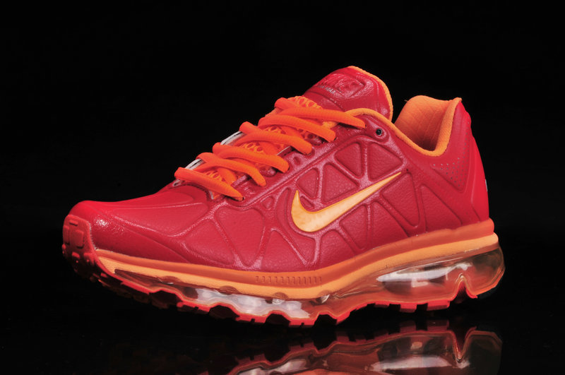 Nike Air Max 2009 Leather Red Orange