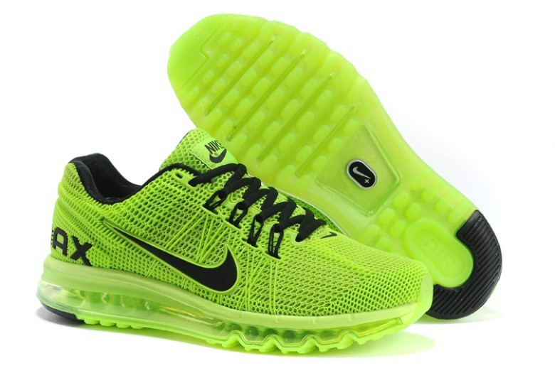 Nike Air Max 2013 Fluorscent Green Black Shoes