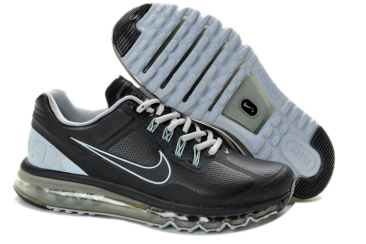Nike Air Max 2013 Leather Black Shoes