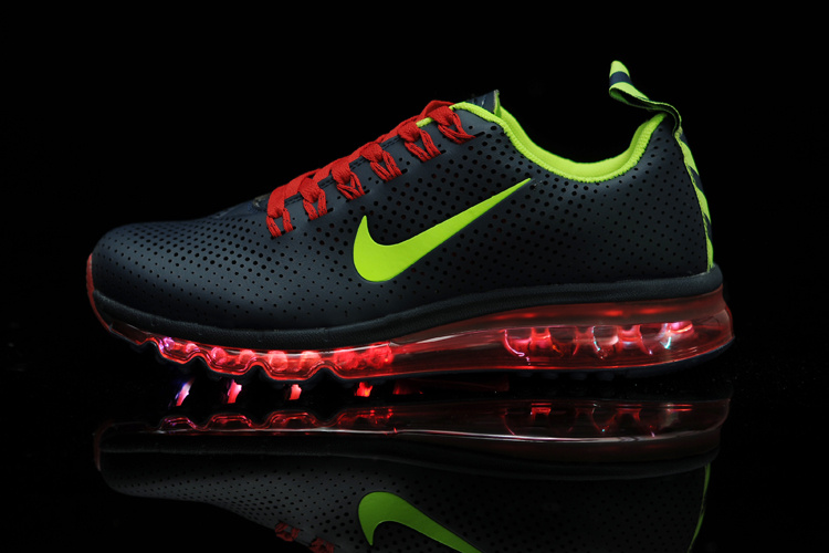 Nike Air Max 2013 NSW Midnight Black Green Red Shoes