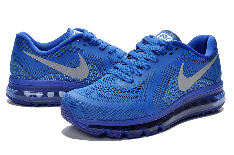 Nike Air Max 2014 All Blue Grey Swoosh Shoes