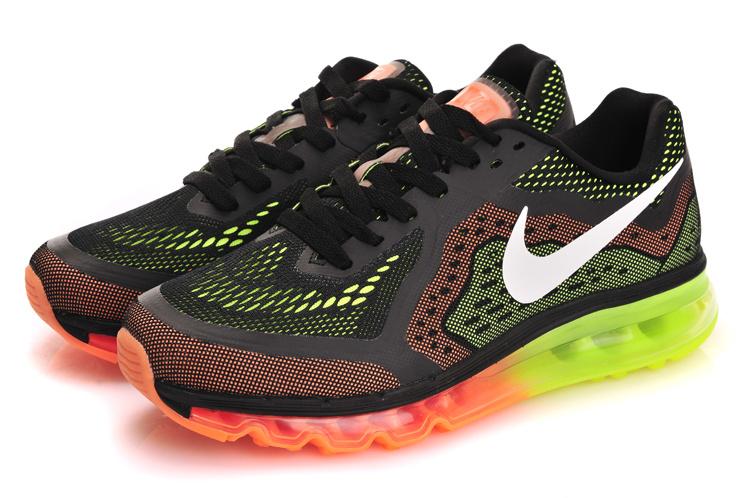 Nike Air Max 2014 Black Orange Green White Shoes