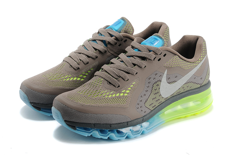 Nike Air Max 2014 Grey Blue Green Shoes