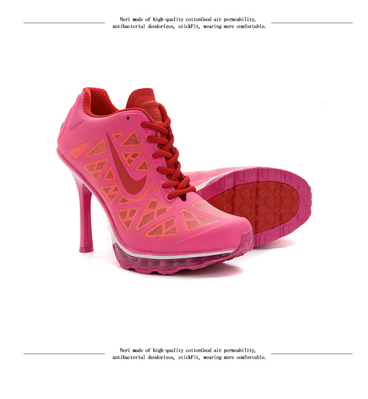Nike Air Max 2014 High Heels-All Pink