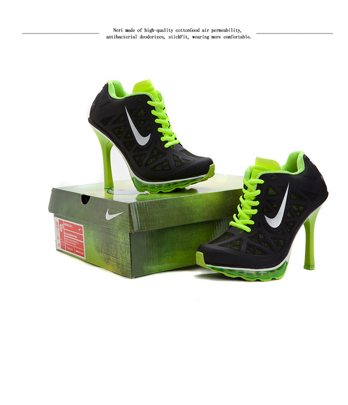 Nike Air Max 2014 High Heels Black Fluorscent Green
