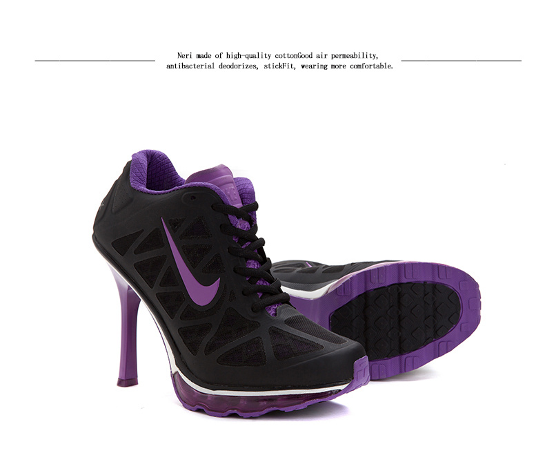 Nike Air Max 2014 High Heels Black Purple
