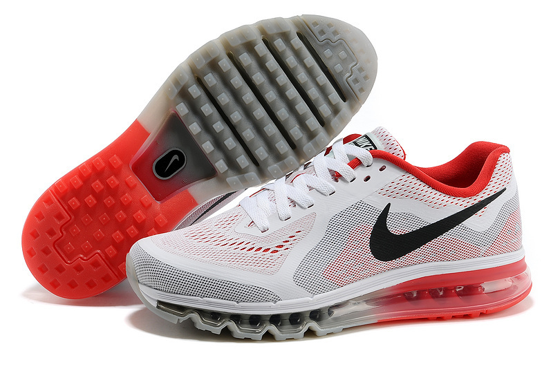 Nike Air Max 2014 White Red Black Shoes