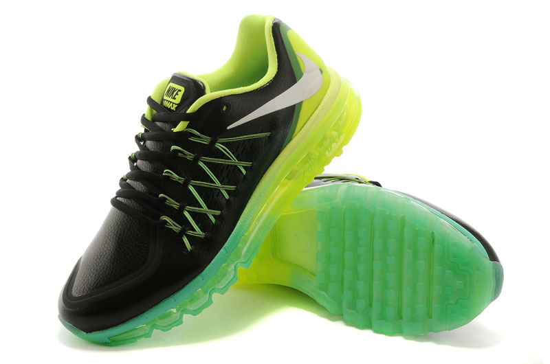 Nike Air Max 2015 Flyline Black Fluorscent Green Shoes