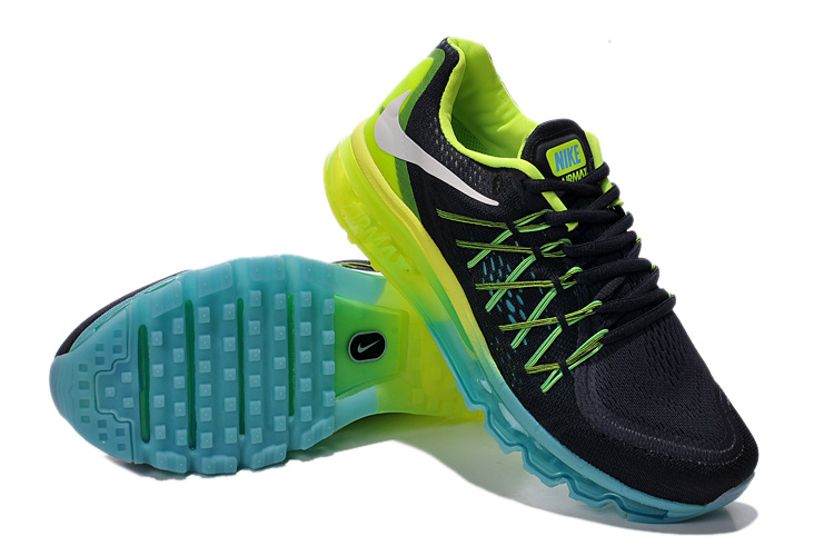 Nike Air Mx 2015 Black Green Blue Shoes