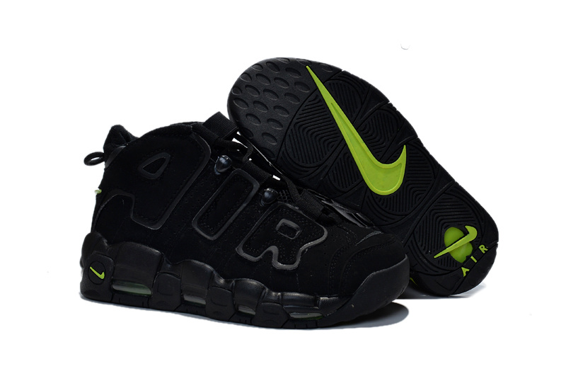 Nike Air Pippen All Black Green Shoes For Women