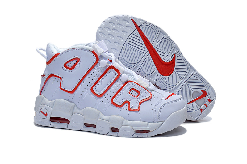 Nike Air Pippen White Red Shoes For Women