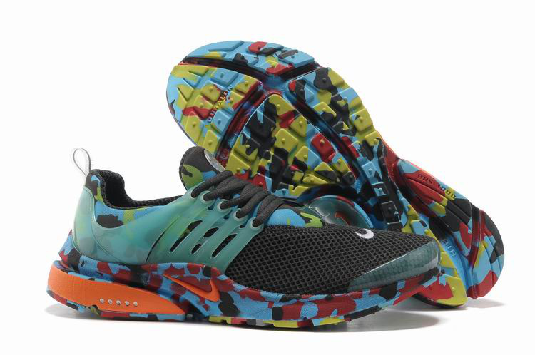 Nike Air Presto 1 Camo Black Blue Red Orange Shoes