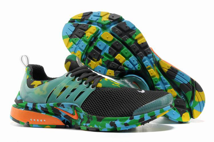 Nike Air Presto 1 Camo Black Green Orange Shoes