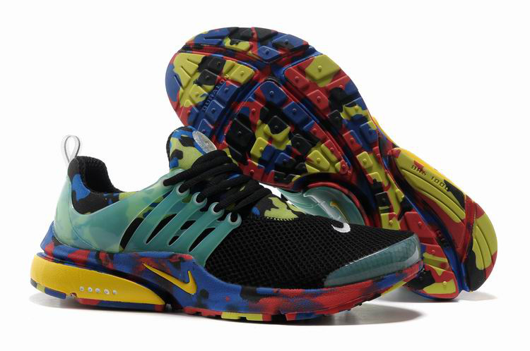 Nike Air Presto 1 Camo Black Green Yellow Shoes