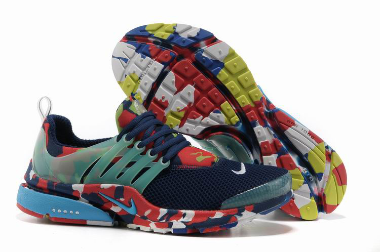 Nike Air Presto 1 Camo Blue Green Red Shoes