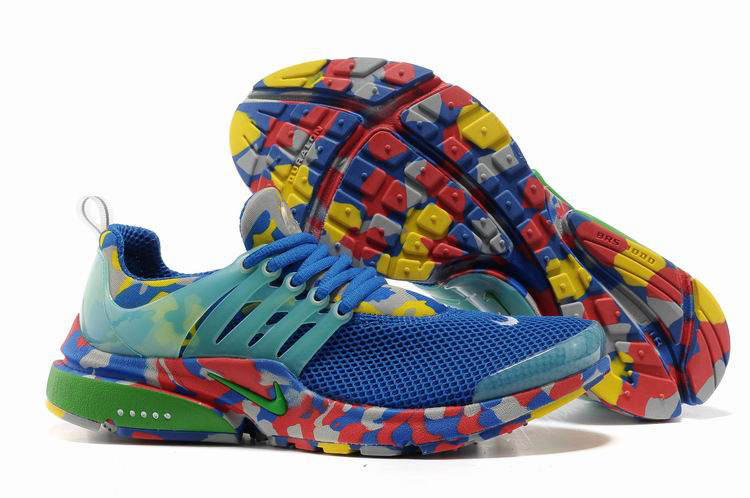 Nike Air Presto 1 Camo Blue Red Green Shoes