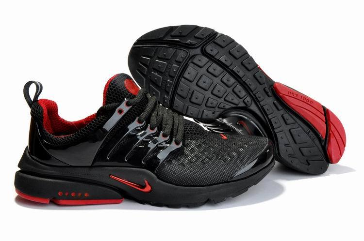 Nike Air Presto 2 Carve Black Red Shoes With Big Holes