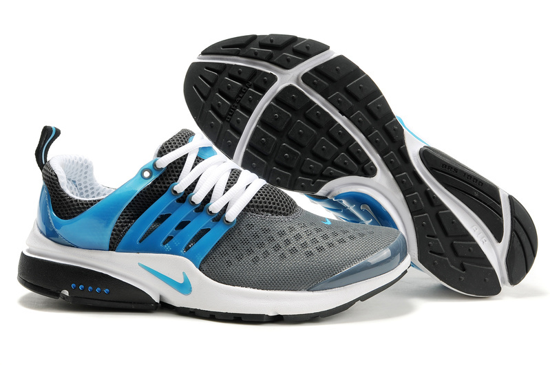 Nike Air Presto 2 Carve Dark Grey Blue White Shoes With Big Holes
