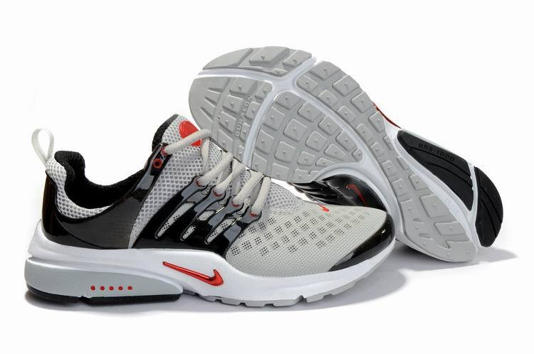 Nike Air Presto 2 Carve Grey Black Red White Shoes With Big Holes