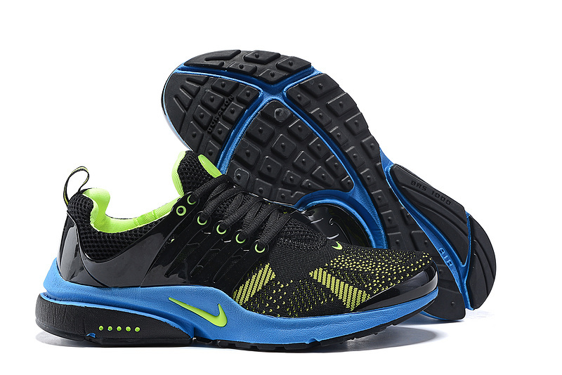 Nike Air Presto Knit Black Green Blue Shoes