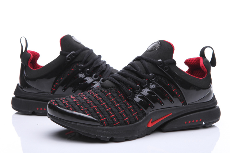 Nike Air Presto Knit Black Red Shoes