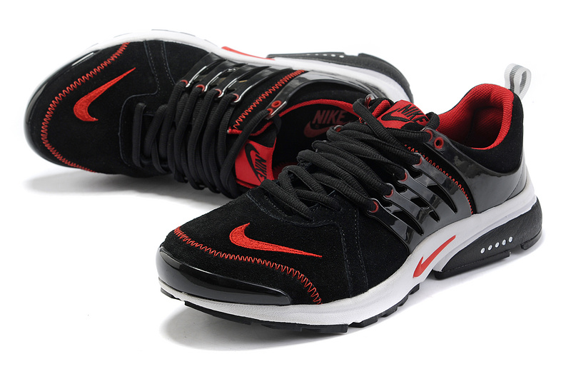 Women Nike Air Presto Suede Black Red White Shoes