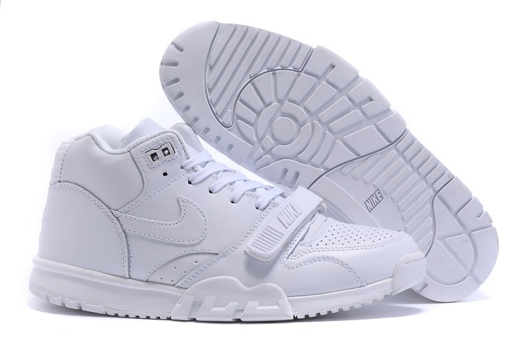Nike Air Trainer 1 Built in Sole All White Shoes