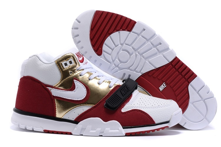 Nike Air Trainer 1 Built in Sole White Black Red Gold Shoes