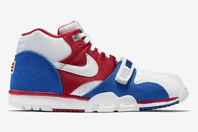 Nike Air Trainer 1 Built in Sole White Red Blue Shoes