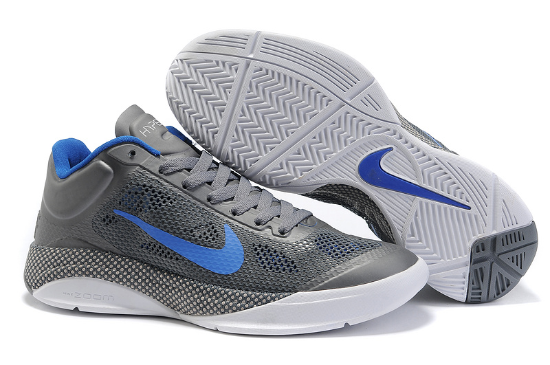 Nike Air Zoom Hyperfuse 2011 Low Grey Blue Shoes