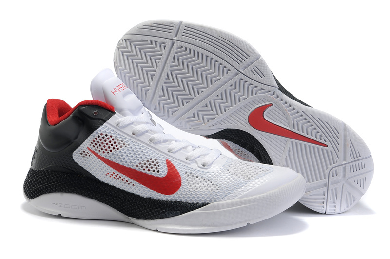 Nike Air Zoom Hyperfuse 2011 Low White Black Red Shoes