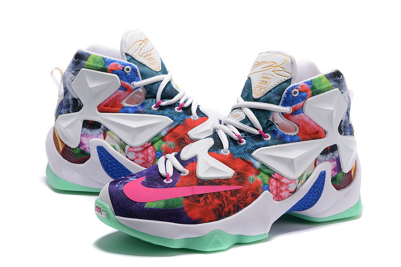 new arrival e3e09 771dd Nike Air Zoom Lebron James 13 Customize Colorful Shoes ...