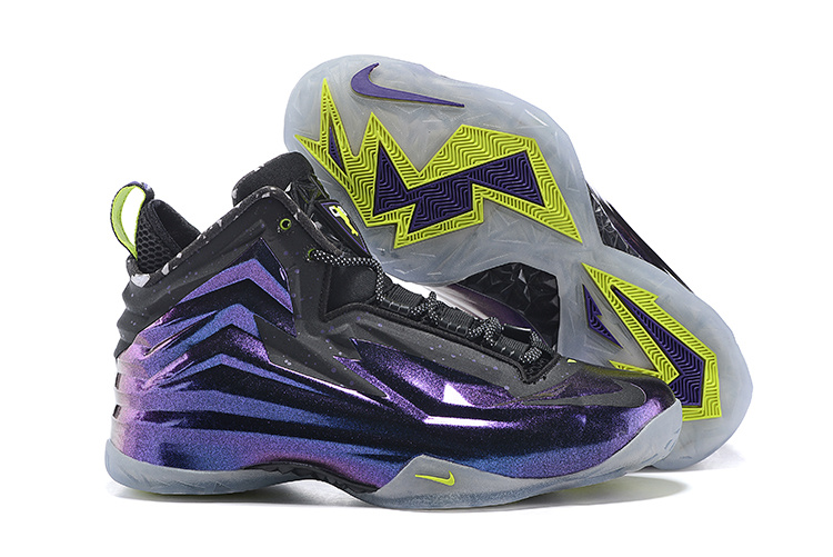 Nike Chuck Posite Purple Grey Fluorscent Basketball Shoes