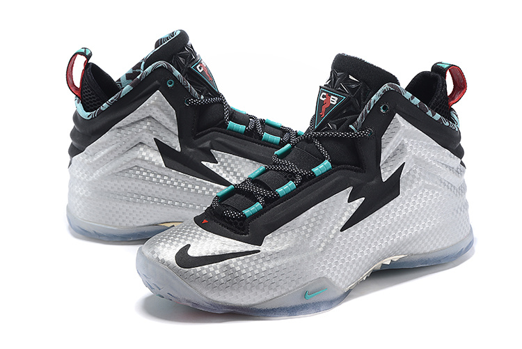 Nike Chuck Posite Silver Black Blue Basketball Shoes