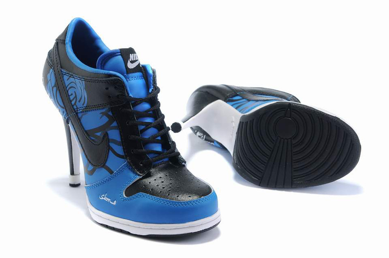 Nike Dunk High Heels Blue Black Black Logo