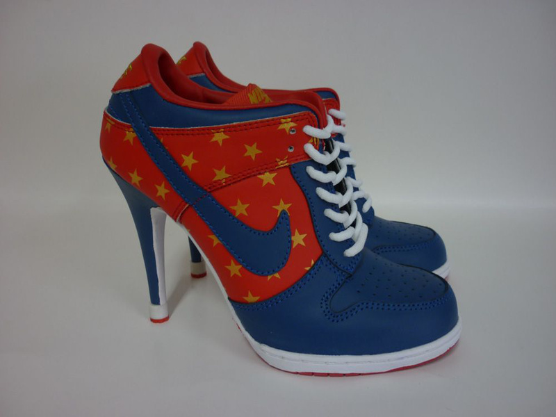 Nike Dunk High Heels Blue Red White