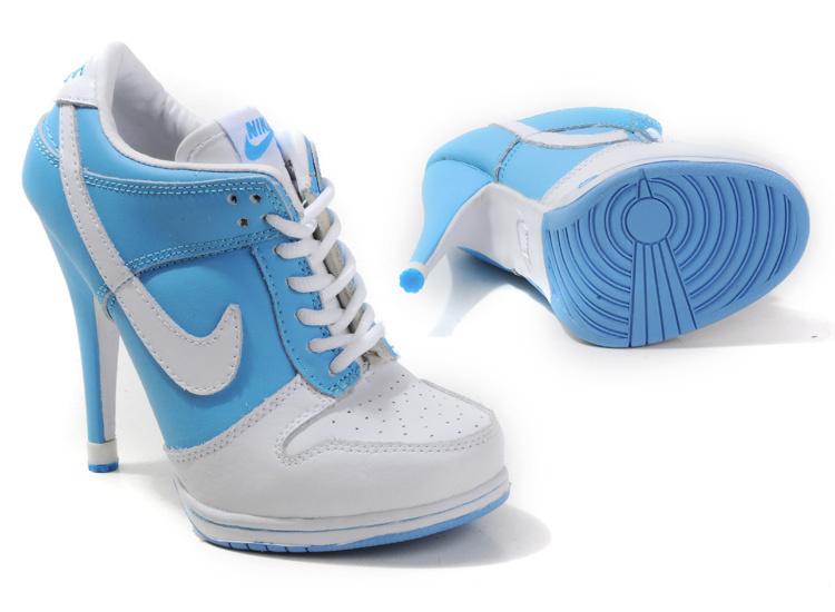 Nike Dunk High Heels WhiteLight Blue