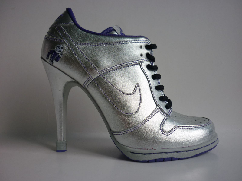 Nike Dunk Low Heels All Silver