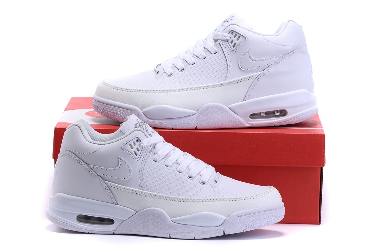 Nike Flight Squad All White Shoes